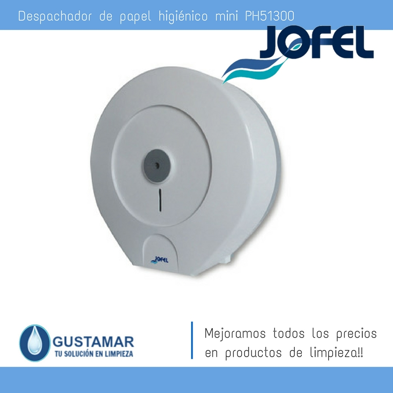 Despachador / Dispensador  de Papel Higiénico Institucional para Baño Jofel PH51300