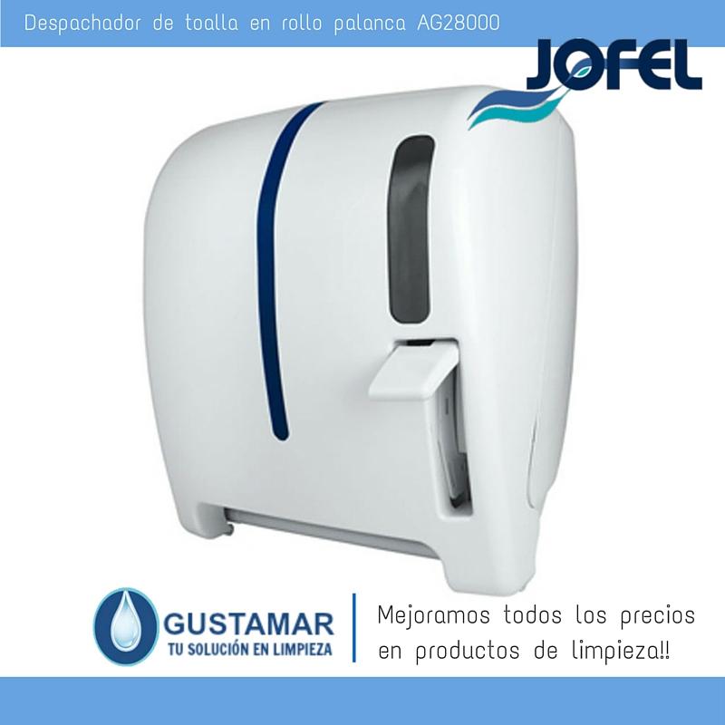 Despachadores / Dispensadores /Dosificadores / Toalla en Rollo / Toalla de papel / Papel en Rollo Atlántica AG28000 Palanca Manual JOFEL