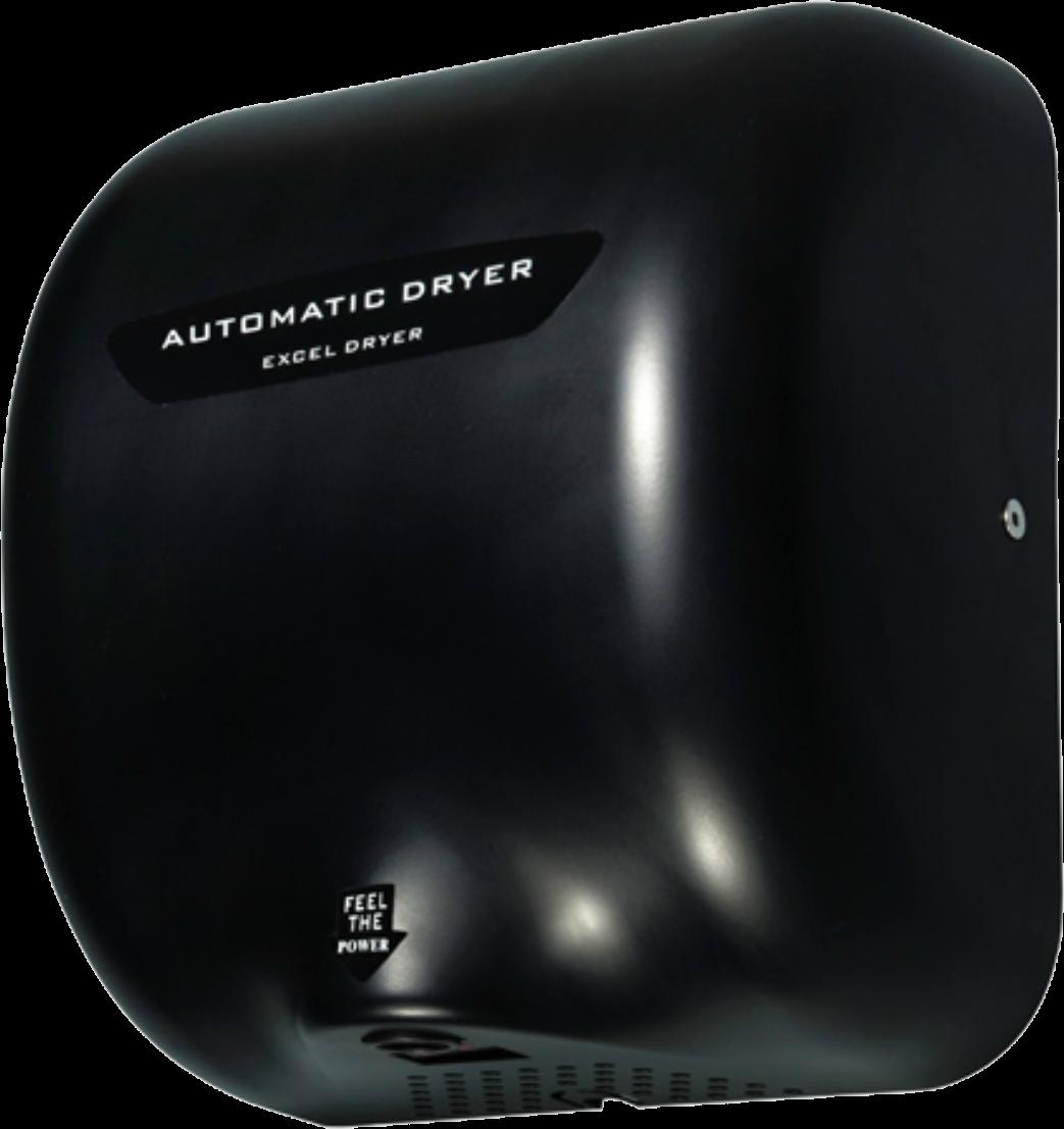 Secador de Manos Acero Inoxidable. Óptico Negro. Voltaje 110V. Velocidad de aire 90m/s. Tiempo de Secado de 7 a 10 segundos. Peso: 4.5 kg. Medidas: 295 X 171 X 325 mm