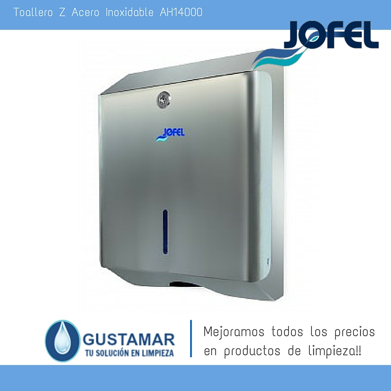 Despachador /Dispensador de Toalla Interdoblada Acero Inoxidable  Jofel AH14000 Z-600