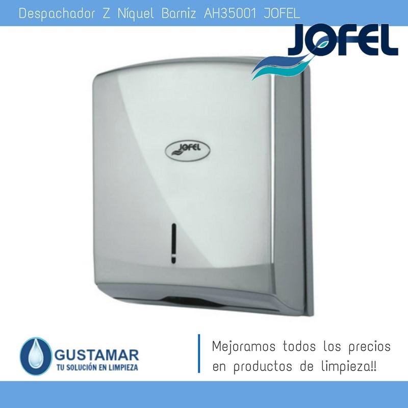 Despachador /Dispensador de Toalla Interdoblada Níquel Barniz Jofel AH35001  Z-600