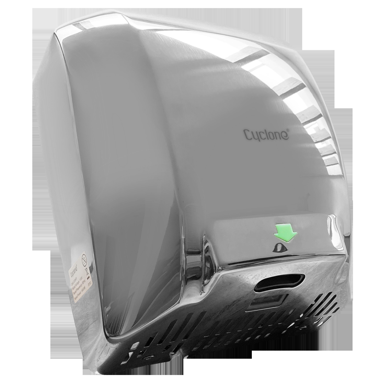 Secador de Manos Acero Inoxidable  Óptico Pulido. Potencia 110V. Velocidad de Aire 90m/s.  Tiempo de Secado  de 7 a 10 segundos.  Peso 6 kg.  Medidas 300 X 222 X 730 mm