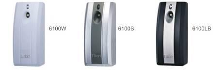 6100W, 6100S, 6100LB. Dosificadores o difusores de aroma White, Silver y Luxury Black TITAN