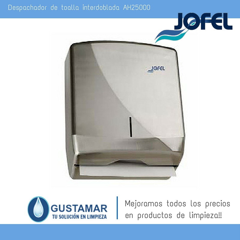 Despachador /Dispensador de Toalla Interdoblada Futura Inoxidable Jofel AH25000 Z-600