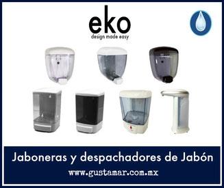 Jaboneras y dosificadores de jabón líquido para manos EKO