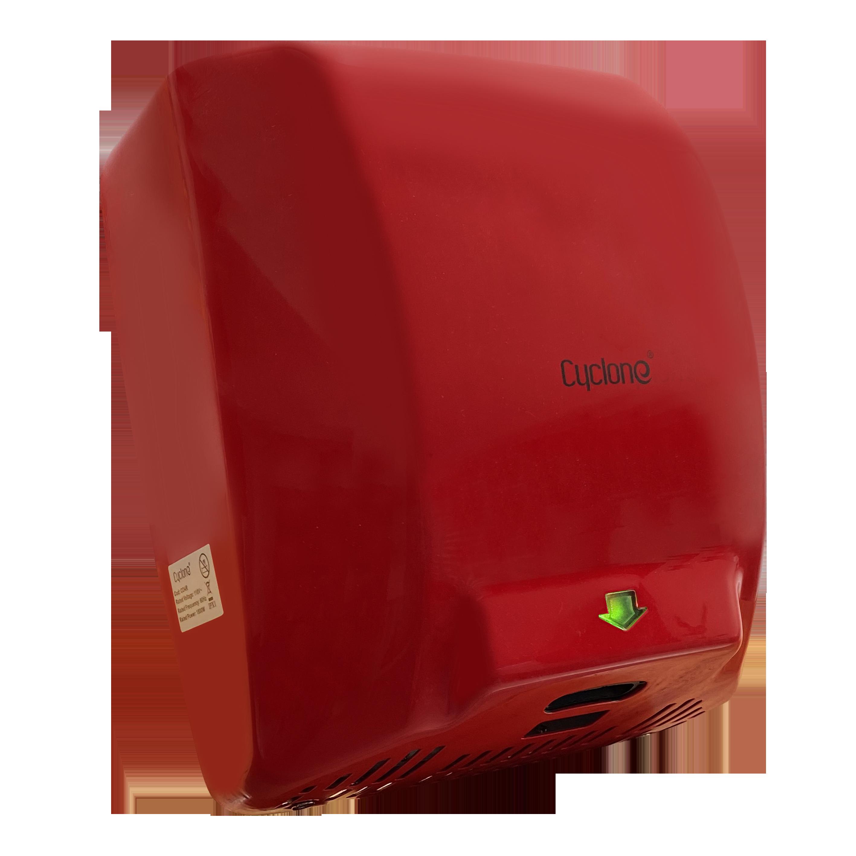 Secador de Manos Acero Inoxidable  Óptico Rojo. Potencia 110V. Velocidad de Aire 90m/s.  Tiempo de Secado  de 7 a 16 segundos.  Peso 6 kg.  Medidas 300 X 222 X 730 mm