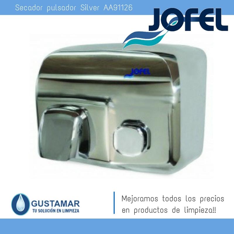 SECADORES DE MANOS JOFEL / SECAMANOS SILVER PULSADOR AA91126 JOFEL