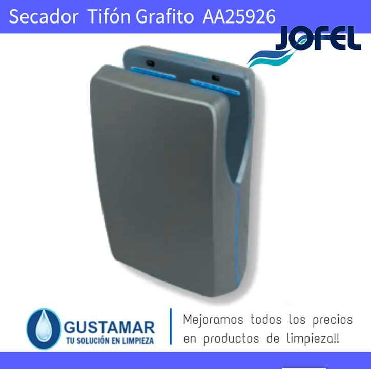 SECADORES DE MANOS JOFEL / SECAMANOS TIFON GRAFITO CON FILTRO HEPA ÓPTICO AA25926 JOFEL