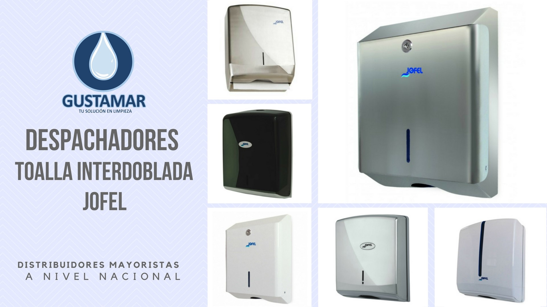 DESPACHADORES DE TOALLA INTERDOBLADA JOFEL
