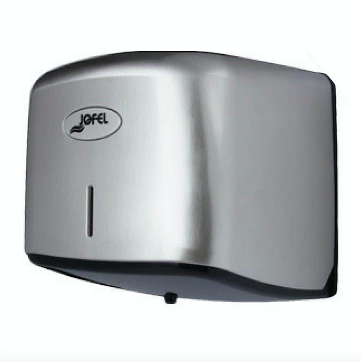 """Portarrollo Vertical  de papel higiénico FLUÍDO  CÉNTRICO AE67011 Color: Base en plástico ABS y tapa níquel barniz  Dimensiones en milímetros: Alto: 235 Largo: 227 Ancho: 238 Capacidad: 1 rollo de papel de 7.8"""" (20 cm) y 13 cm de ancho"""