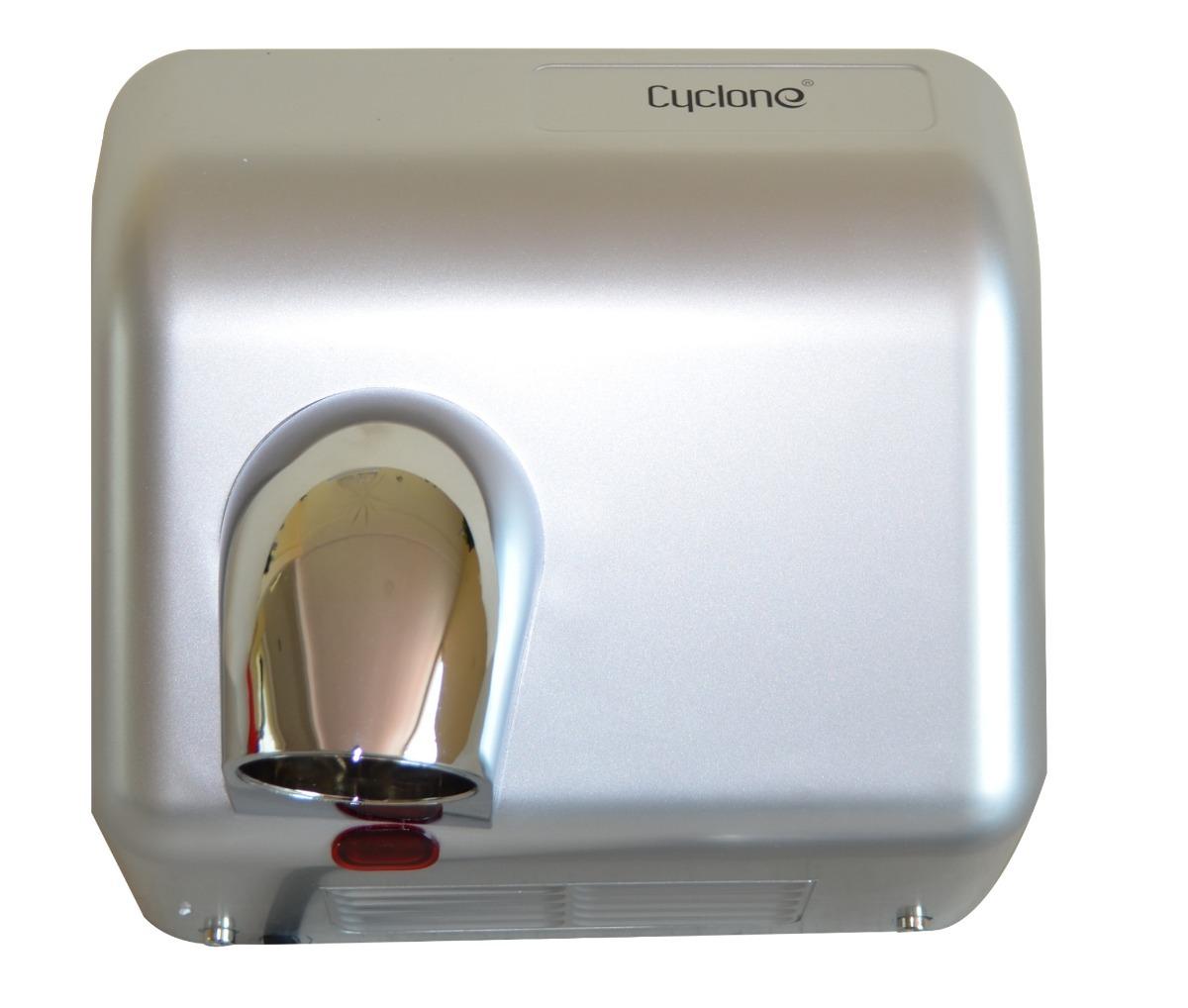 Secador de Manos Óptico Gris. Voltaje 220:240V/ 50 Hz o 110:127V/ 60 Hz. Velocidad de aire: 25 m/s. A prueba de agua. Material ABS. Peso 29 kg. Medias:  62 X 56 X 53.5 cm