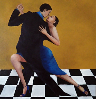 Tango1 : 300×300mm Canvas Oil 2014