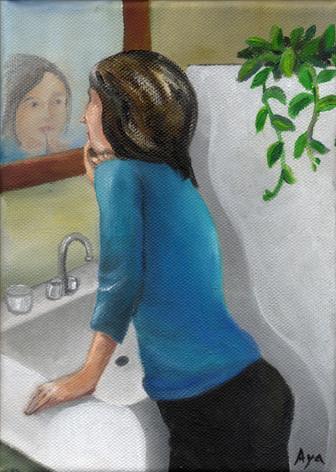 紅を差す : Canvas Oil 2016