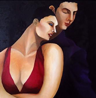 Tango2 : 300×300mm Canvas Oil 2014