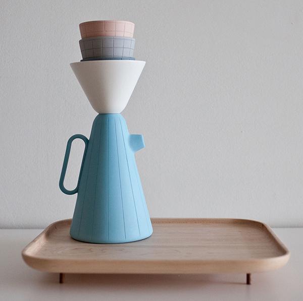 © Set Sucabaruca en porcelaine, par Luca Nichetto pour Mjölk.