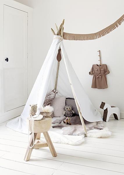 Inspiration KIDS - Un tipi dans la chambre.