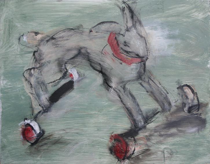 Hase mit Halsband | 70 x 90 cm | 2008