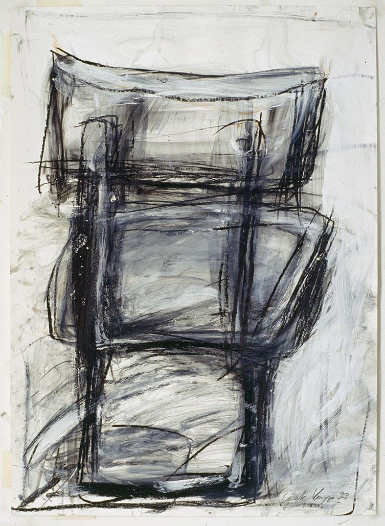 Stuhl 96 x 62 cm Mischtechnik auf Papier 1993