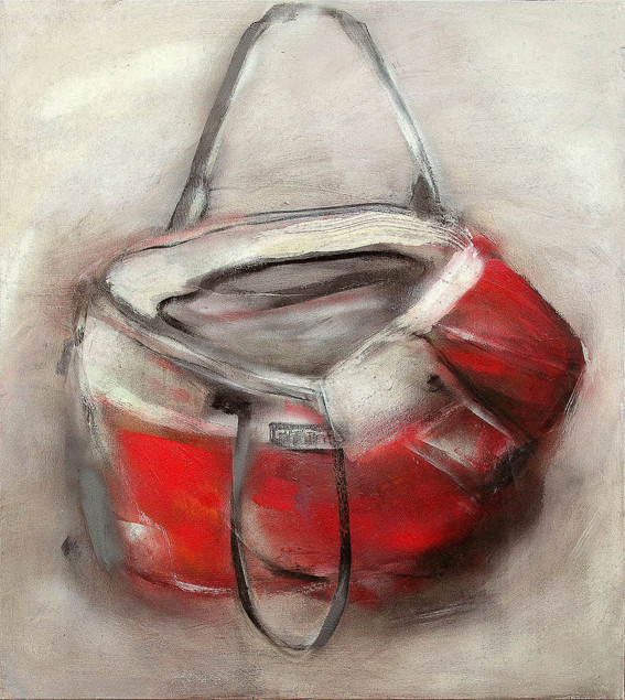 Rote Tasche | 105 x 120 cm | 2013