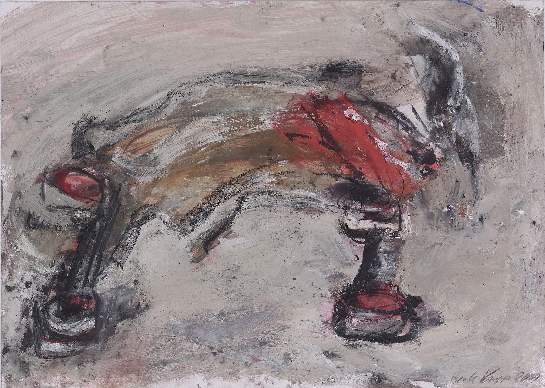 Hase auf Rädern | 50 x 70 cm | 2000