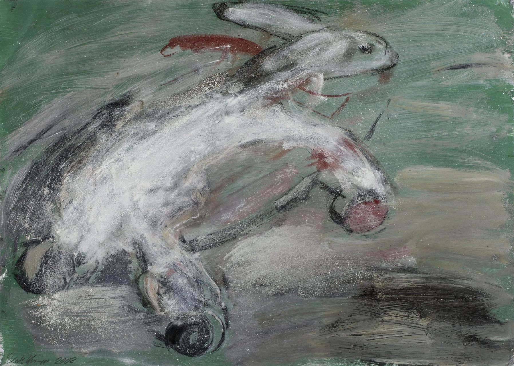 Hase auf Rädern | 50 x 70 cm | 2002