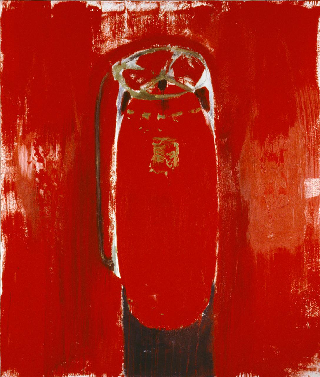 Feuerlöscher 200 x 170 cm Mischtechnik auf Leinwand 1977