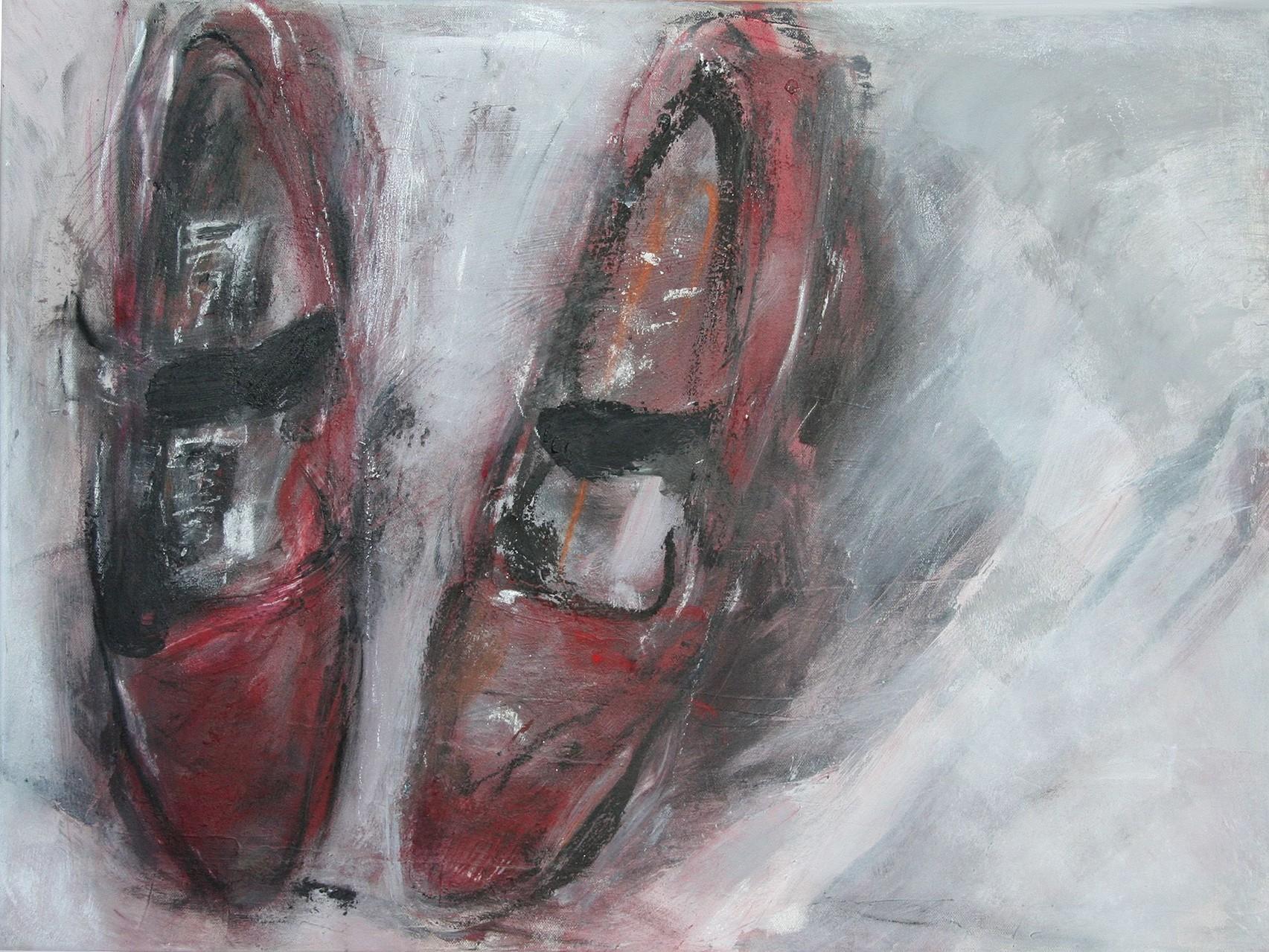 Rotes Paar Schuhe | 50 x 70 cm | 2008
