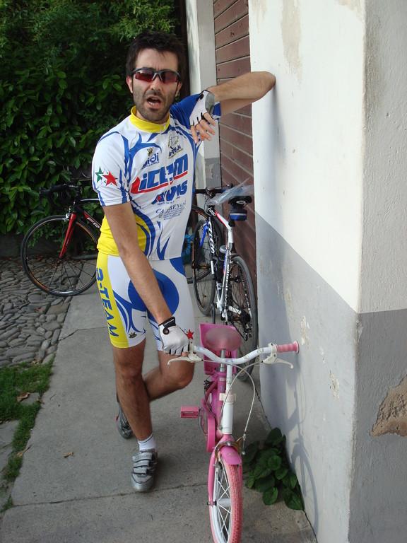 Giulo... con la bici nuova