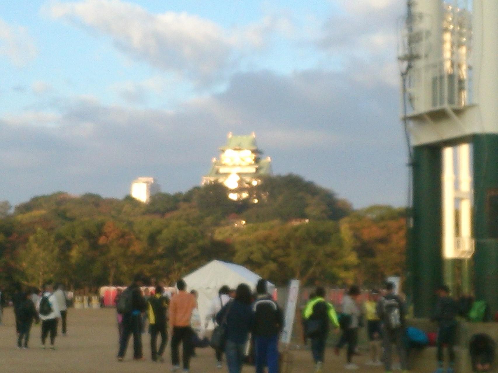 大会当日 大阪城がまぶしい^^
