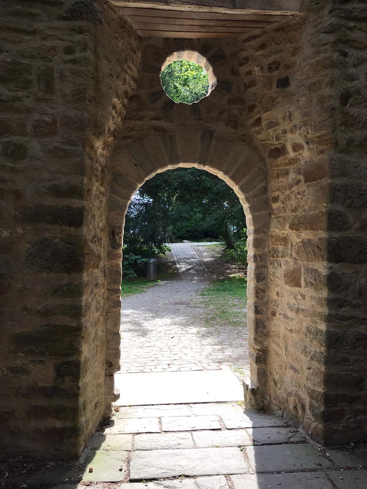 Der ehemalige Eingang der Kapelle