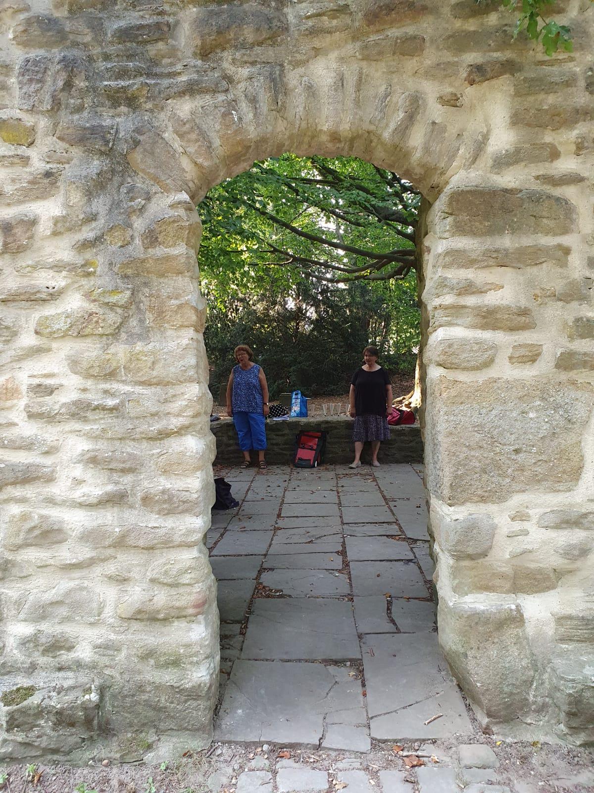 Der Eingang der Kapelle