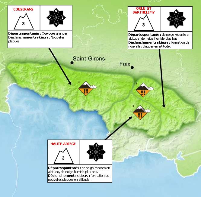 Bulletin de Risque d'Avalanche pour l'Ariège - © Météo France