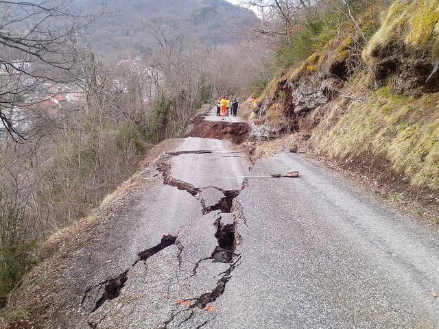 L'endommagement de la route. © DDT 09