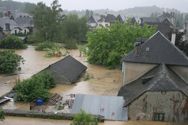 Il est 19h07, l'inondation est à son paroxysme.  © Association Bien Vivre à Bruges
