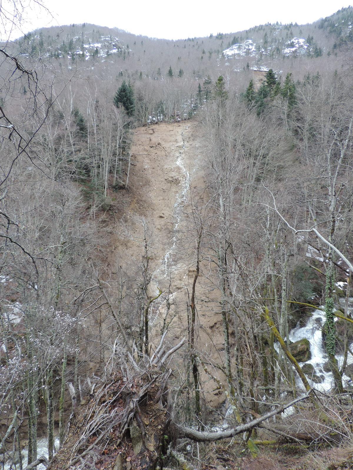 Le ruisseau du Najar, après la crue. © DDT 09