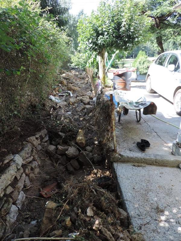 Le ruisseau du Bouchet après la crue. © DDT 09