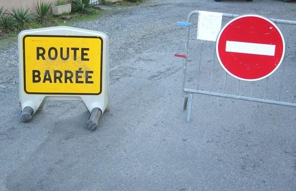 Rue des marnières fermée à la circulation. © C-PRIM 2009