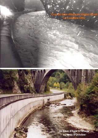 Le Gave d'Aspe sous le viaduc d'Escot. © C-PRIM 2010