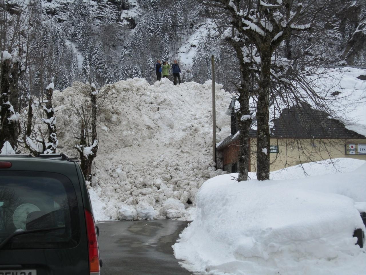 Les autorités évaluent le risque d'une nouvelle avalanche © Mairie de Luchon