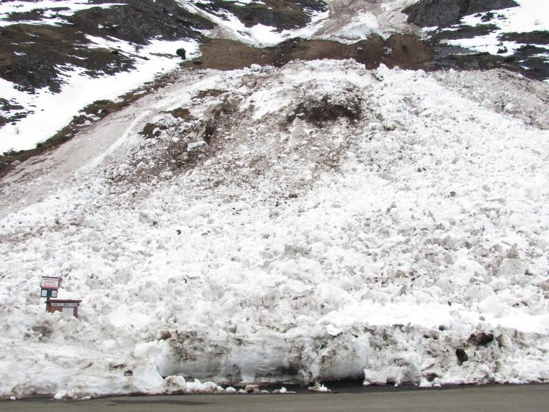 Restes d'une avalanche en aval du lac d'Estaing. Photo prise le 18 février. © C-PRIM 2013