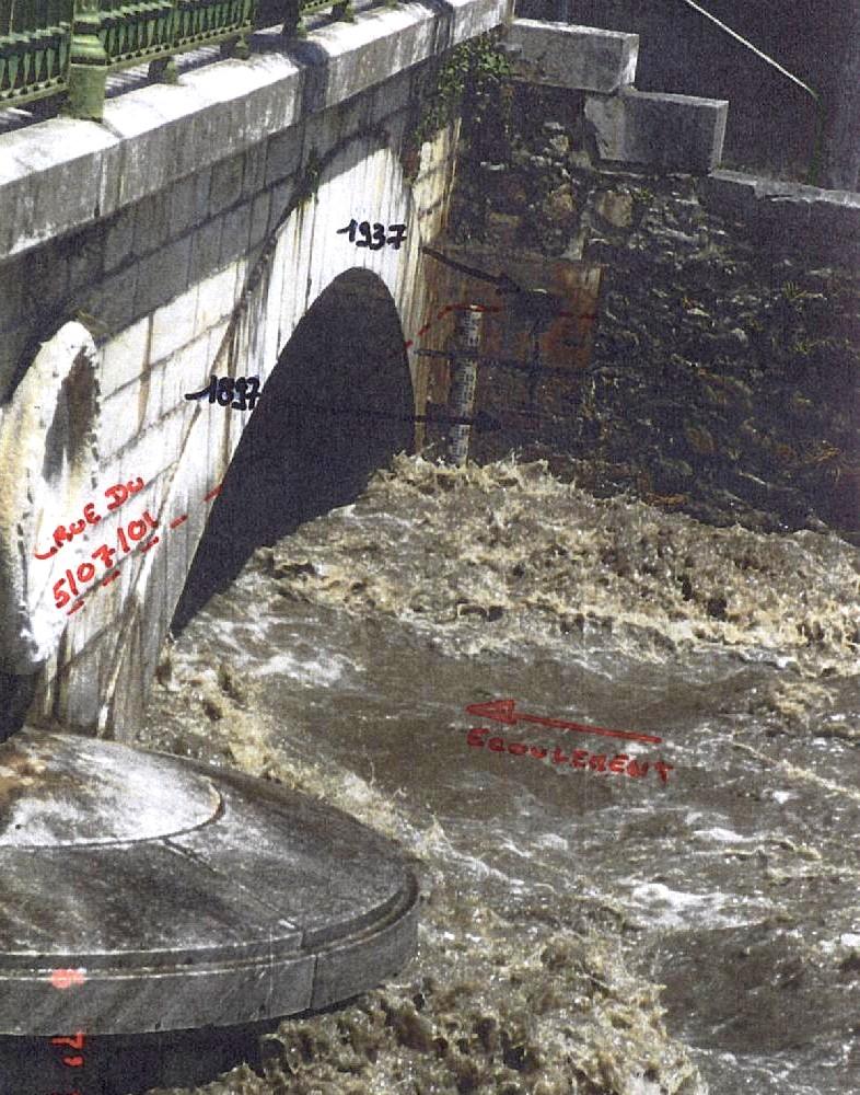 Comparatif des hauteurs d'eau des crues de 2001, 1937 et 1897 © DREAL Midi-Pyrénées