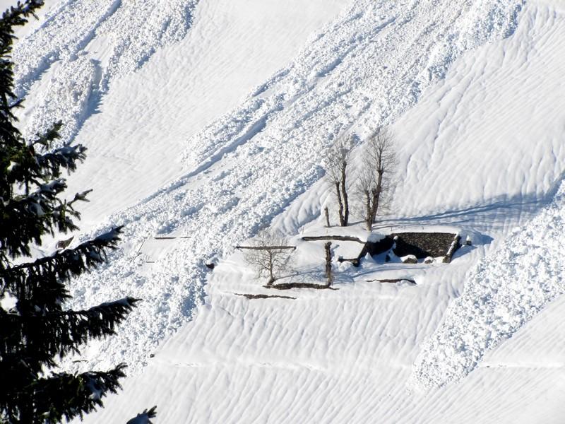 Nombreuses avalanches dans la vallée du Bastan. Photo Photo prise le 28 janvier. © C-PRIM 2013