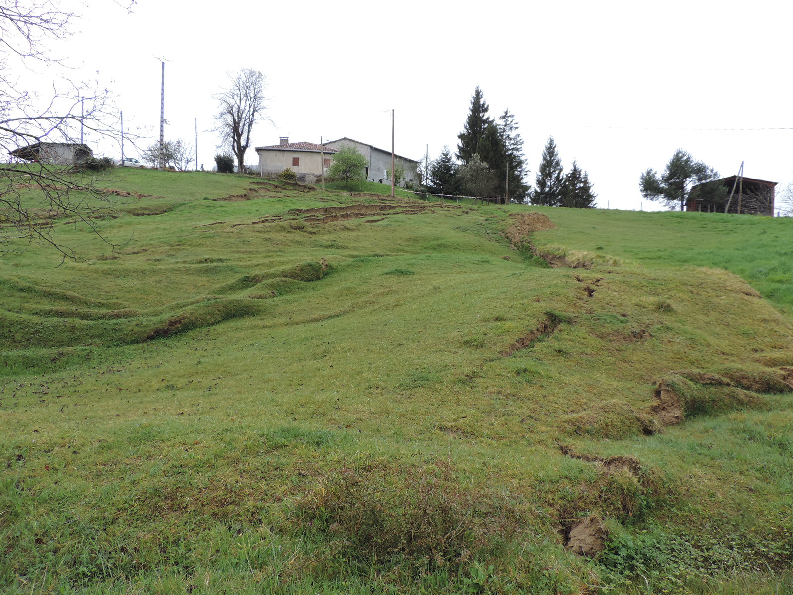 La désagrégation du sol à Taurignan-Castet. © DDT 09