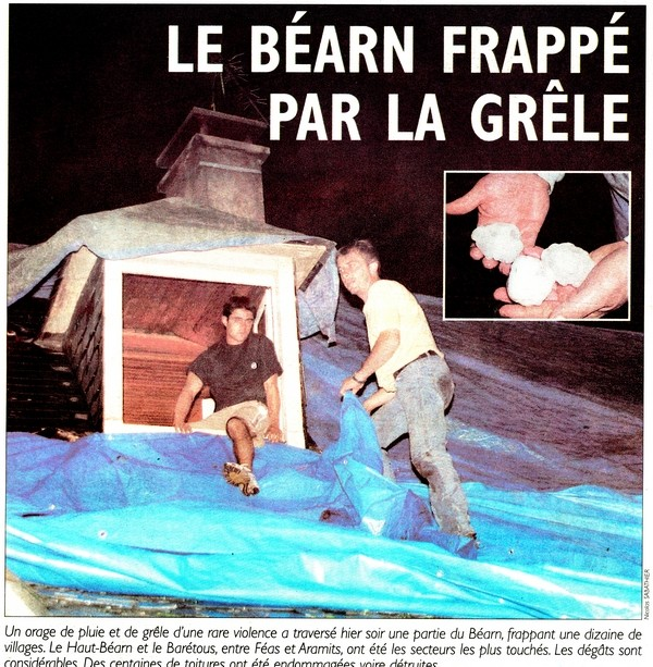 Photo de une du journal © République des Pyrénées