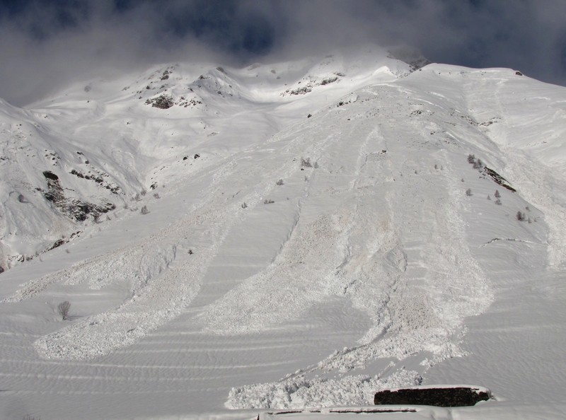 Nombreuses avalanches dans la vallée du Bastan. Photo prise le 28 janvier. © C-PRIM 2013