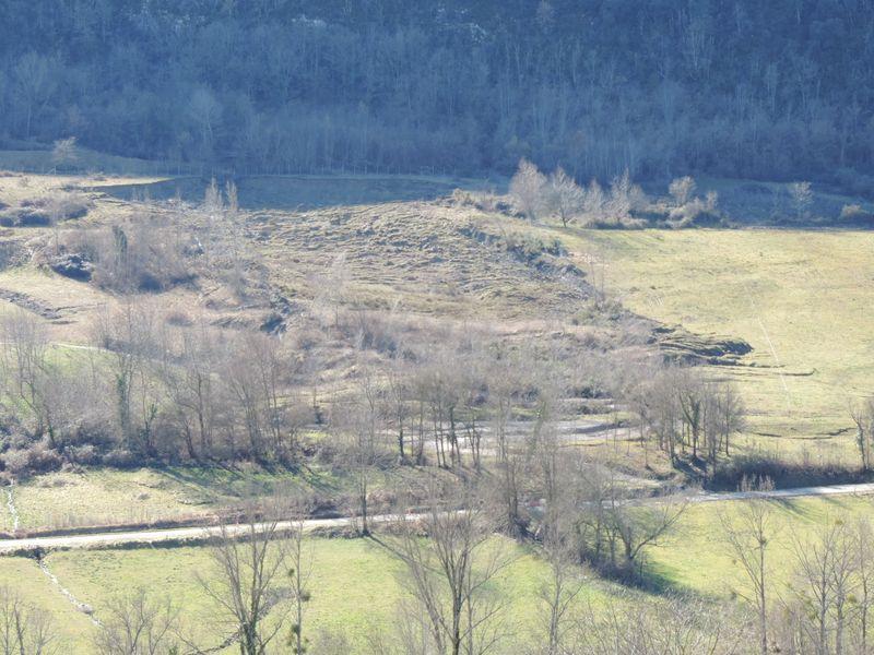 Un mouvement de terrain, de type coulée de boue, est survenu à Arabaux. © DDT 09