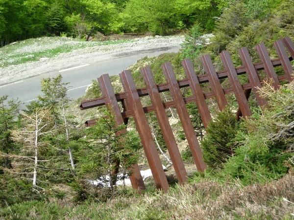 Protection de la route d'accès à La Pierre Saint Martin. © C-PRIM 2009