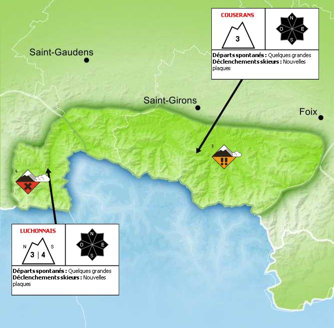 Bulletin de Risque d'Avalanche pour le Luchonnais - © Météo France