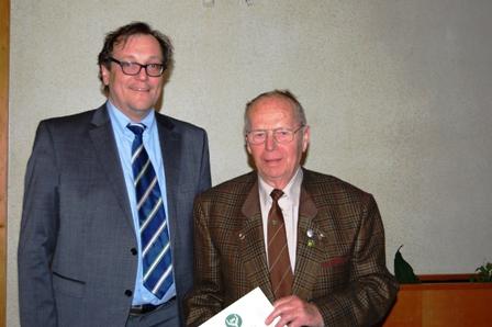 50 Jahre Mitglied im Verein: Herbert Schmidt.
