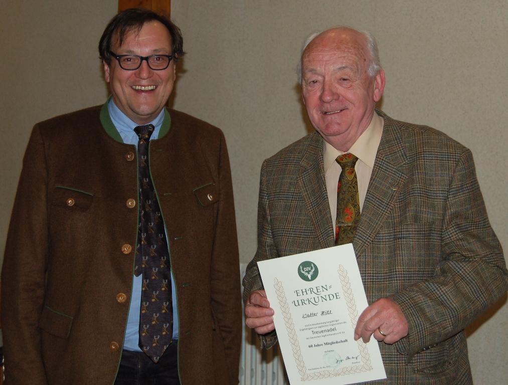 60 Jahre Mitglied: Walter Höhl